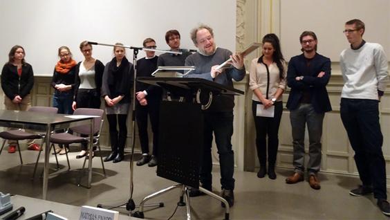 Remise mathias enard du premier prix litt raire la for Chambre de commerce suisse en france