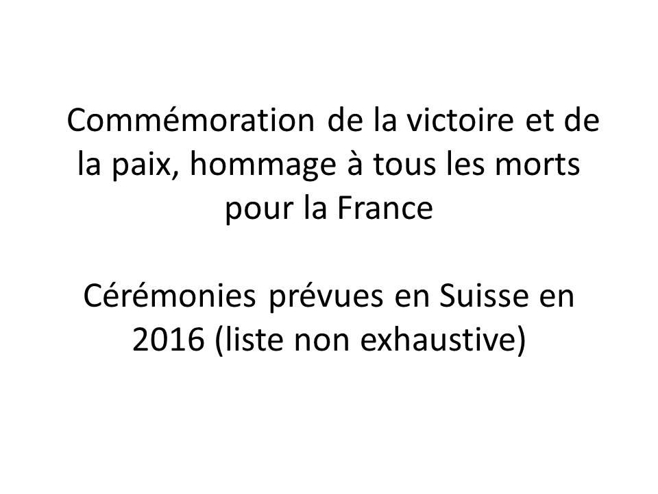 C r monies 2016 pour la comm moration de la victoire et de for Chambre de commerce suisse en france