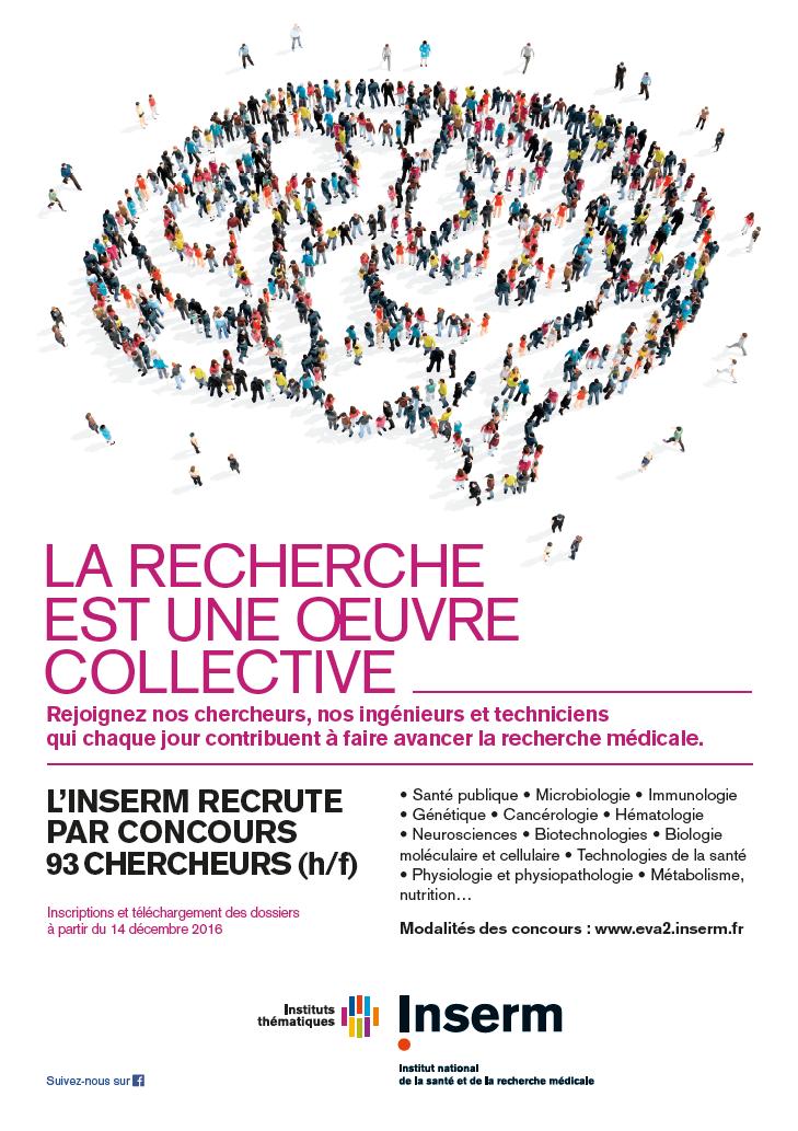 Concours 2017 de recrutement de chercheurs l inserm la for Chambre de commerce suisse en france