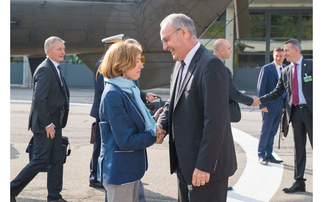 Florence Parly et Guy Parmelin